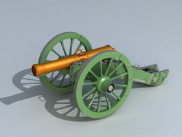 Civil War Field Gun 3d model
