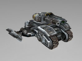 Sci-Fi Vehicle Tank 3d model