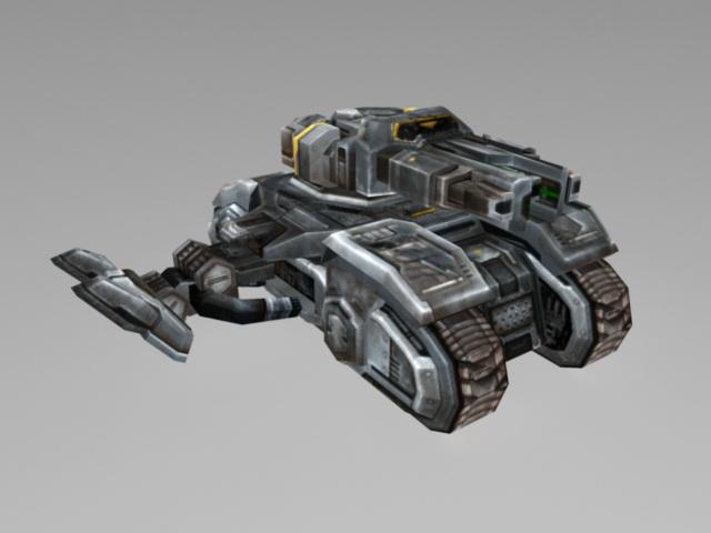 Sci-Fi Vehicle Tank 3d model