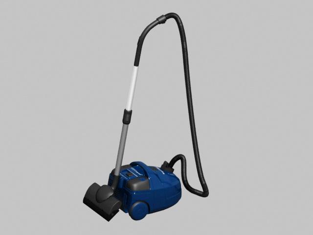 Blue Vacuum Cleaner 3d model