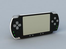 PSP Game Console 3d preview