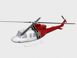 Private Helicopter 3d model