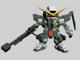 SD Gundam Force Character 3d model