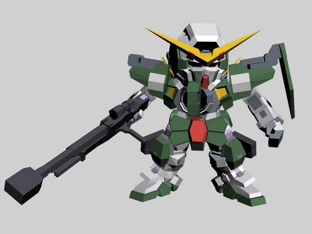 SD Gundam Force Character 3d model