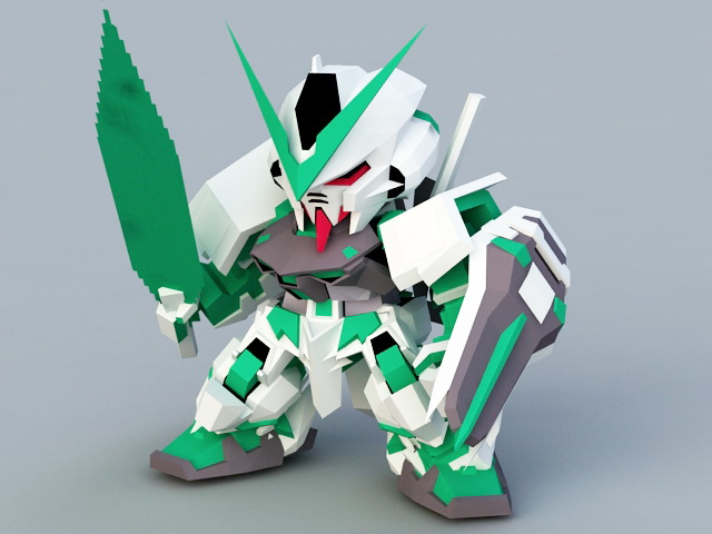 Gundam Astray Green Frame 3d model
