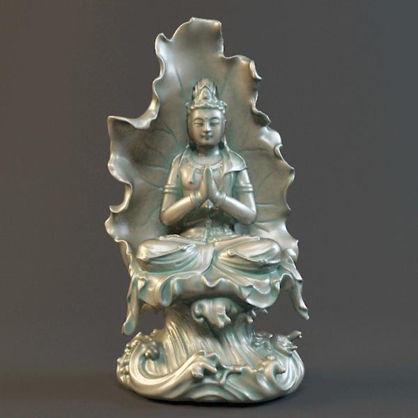 Avalokitesvara Bodhisattva Statue 3d model
