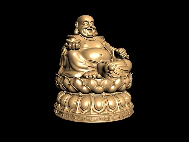 Chinese Laughing Buddha Statue 3d model