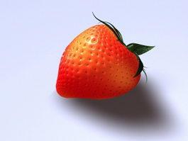 Fresh Strawberry 3d model