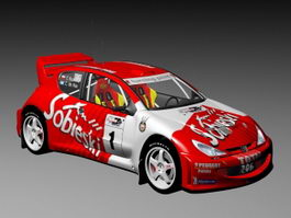 Peugeot 206 World Rally Car 3d model