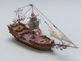 Ancient Sailing Vessel 3d model