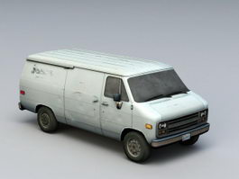 Rusted Old Van 3d model