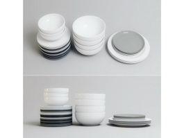 Dinner Ware Set 3d model
