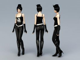 Cool Girl 3d model