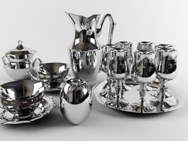 Silverware and Tableware 3d model