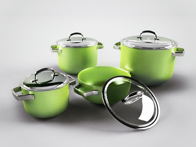 Enamel Steel Cookware 3d model