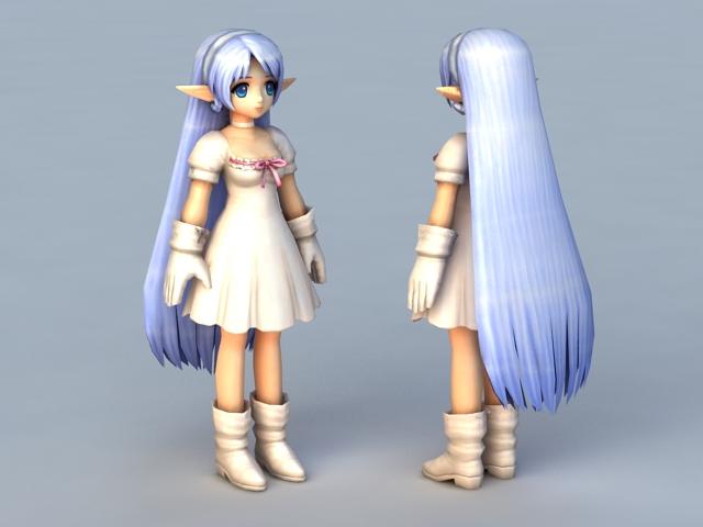 Anime Elf Princess 3d model