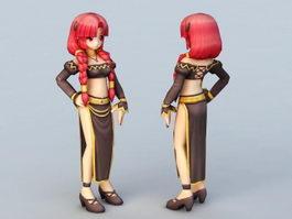 Cute Anime Woman 3d model