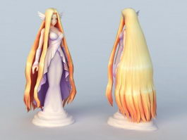 Anime Beautiful Goddess 3d model