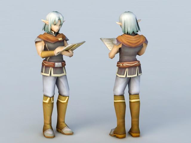High Elf Scholar 3d model