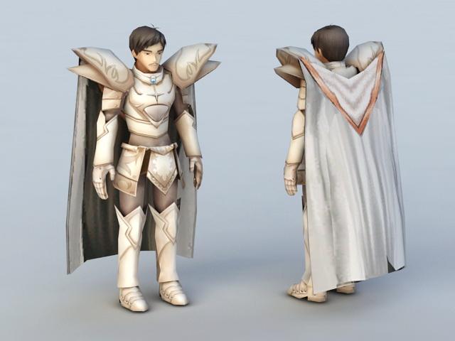 Anime Male Knight 3d model