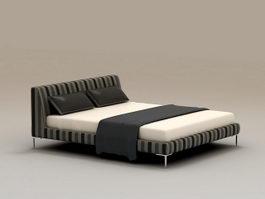 Modern Platform Bed 3d model