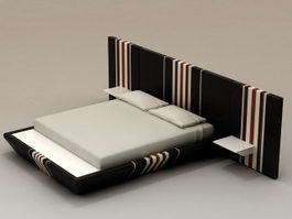 Contemporary Platform Bed 3d model