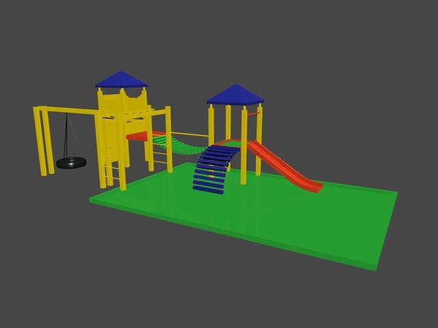 School Playground 3d model