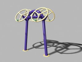 Outdoor Arm Exercise Equipment 3d model