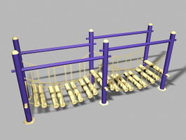 Playground Wobble Bridge 3d model