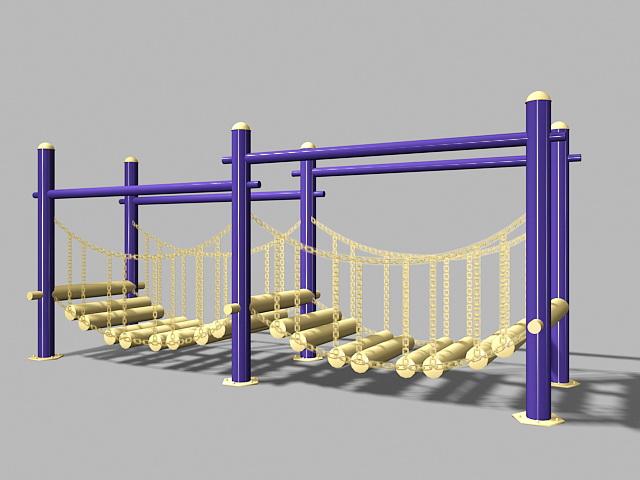 Playground Wobble Bridge 3d model