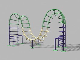 Playground Monkey Bars 3d model