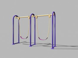 Metal Playground Swing Sets 3d model