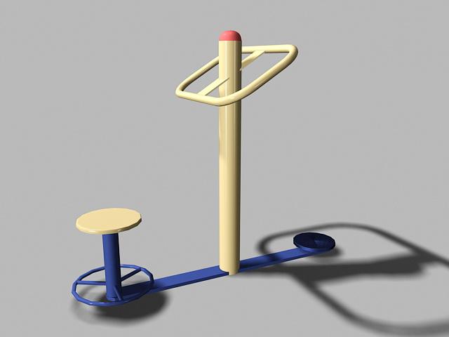 Playground Fitness Equipment 3d model