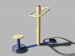 Playground Fitness Equipment 3d model