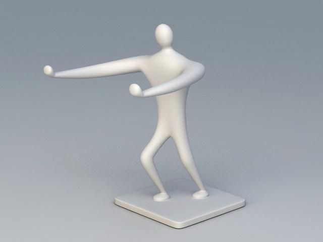 Human Figure Sculpture 3d model