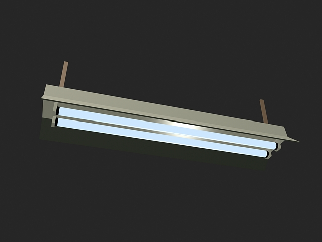 Fluorescent Ceiling Lights 3d model