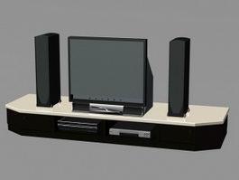 Home Theatre System 3d Model Free Download Cadnav Com