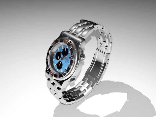 Alarm Chronograph Watch 3d model