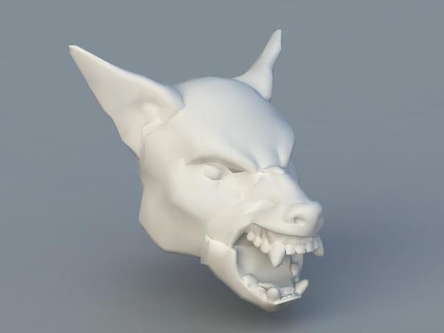 Werewolf Head 3d model