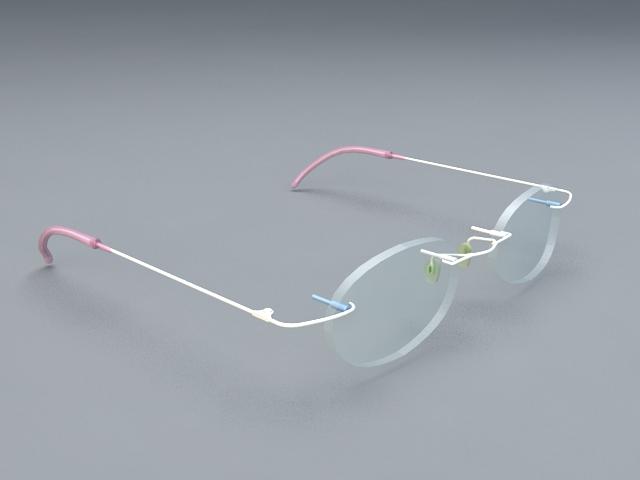 Optical Glasses 3d model