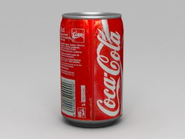 Coca-Cola Classic Can 3d model