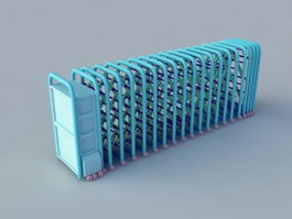 Retractable Folding Security Gate 3d model