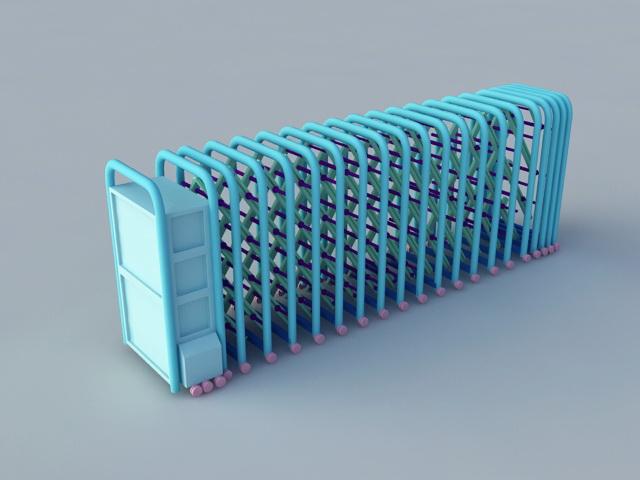 Retractable Folding Security Gate 3d model