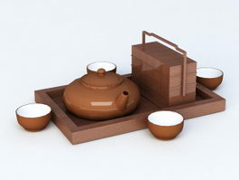 Chinese Tea Set 3d model