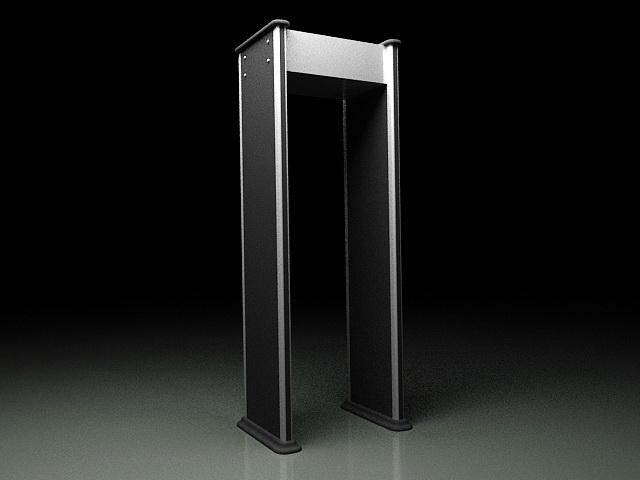 Metal Detector Gate 3d model