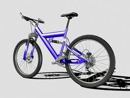 Purple Mountain Bike 3d model