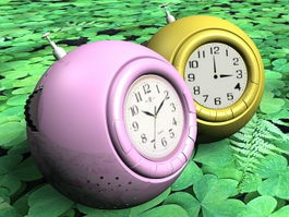 Funny Alarm Clocks 3d model