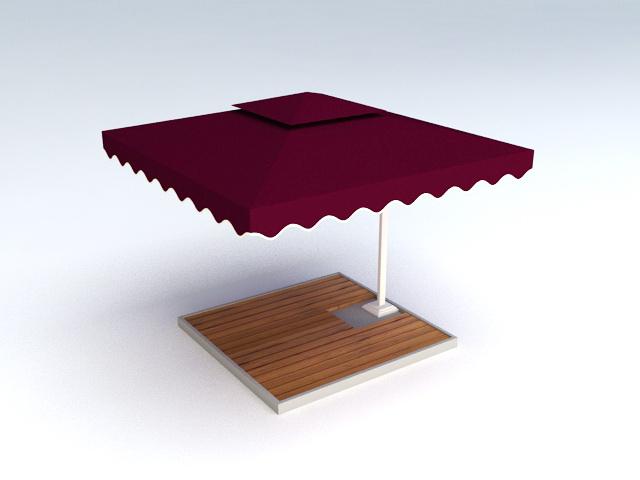 Outdoor Patio Umbrella 3d model