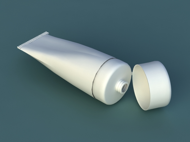 Toothpaste Bottle 3d model