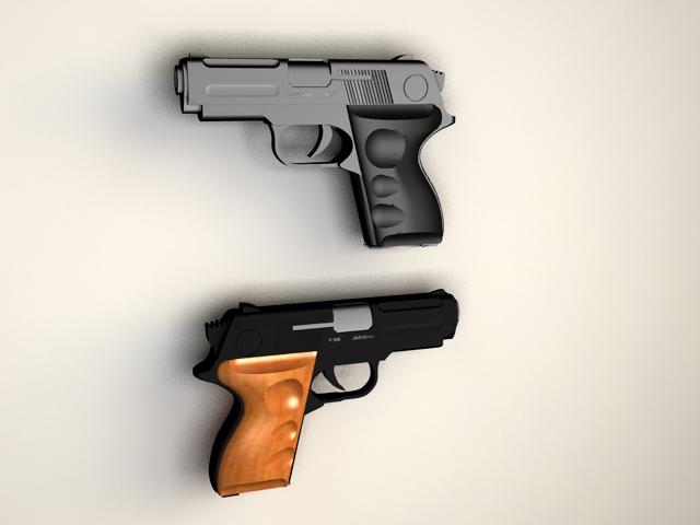 Semi Auto Pistols 3d model